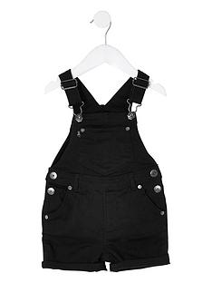 river-island-mini-boys-short-denim-dungarees-black