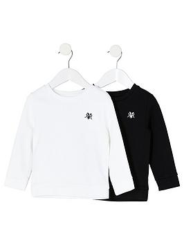 river-island-mini-nbspboys-2-pack-rvr-sweatshirt-blackwhite