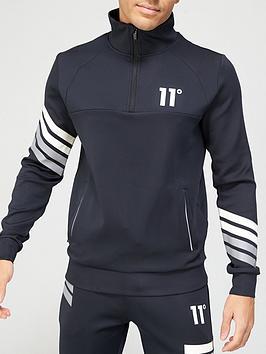11-degrees-11-degrees-nano-reflective-stripe-quarter-zip-poly-track-top