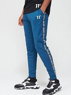11-degrees-maize-pique-repeat-binding-skinny-fitnbspjoggers-bluenbsp