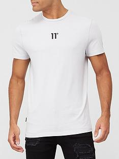11-degrees-core-central-logo-tee-white