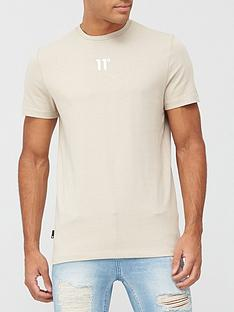 11-degrees-core-central-logo-tee-beige