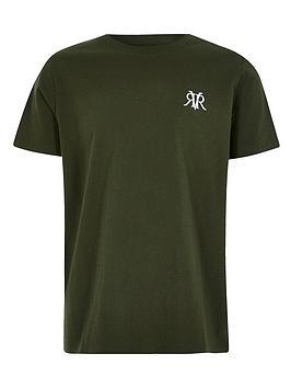 river-island-boys-logo-t-shirtnbsp-nbspkhaki