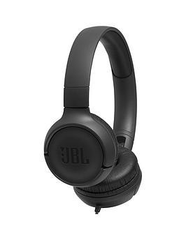 Jbl Tune 500 On-Ear Wired Headphones - Black