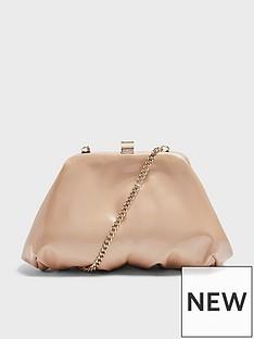 topshop-patent-mini-frame-clutch-bag-camel