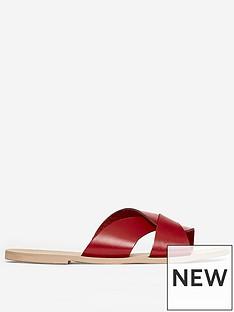 dorothy-perkins-jetson-leather-slider-red