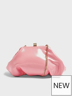 topshop-patent-mini-frame-clutch-bag-pink
