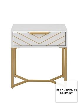 chevron-lamp-table
