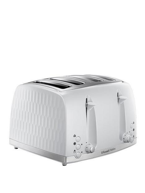 russell-hobbs-honeycomb-4-slice-white-plastic-toaster-26070