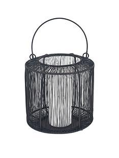 pacific-lifestyle-mesh-metal-round-lantern-ndash-black