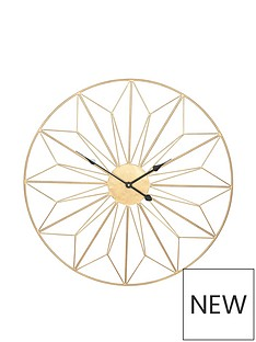pacific-lifestyle-champagne-gold-metal-wall-clock