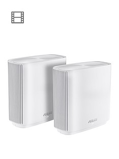 asus-asus-zenwifi-ct8-2-pack-ac3000-whole-home-wifi-tri-band-mesh-system-white