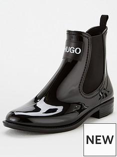 hugo-nolita-rain-bootie-black