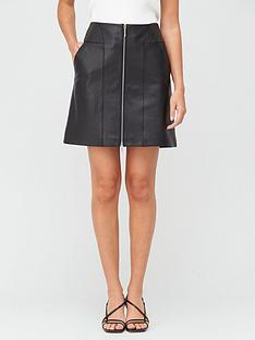 hugo-lavias-leather-skirt-black