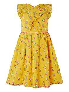 monsoon-girls-sew-grace-cross-front-dress-yellow