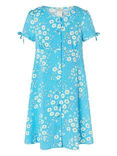 monsoon-girls-daisy-spot-dress-blue