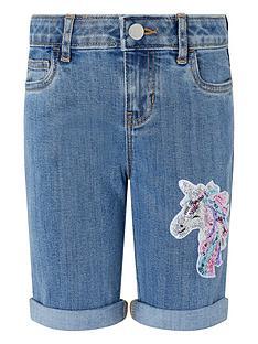 monsoon-girls-elouise-unicorn-sequin-denim-short-blue