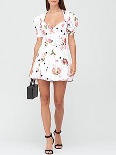for-love-lemons-paloma-rose-and-dot-print-mini-dress-white