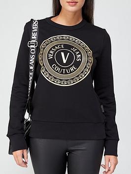 versace-jeans-couture-foil-print-logo-sweatshirt-black