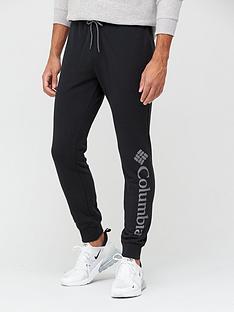 columbia-logo-joggers-black