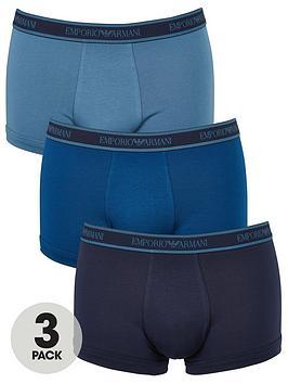 emporio-armani-bodywear-bodywearnbsp3-pack-emporio-band-stretch-cotton-trunks-blue