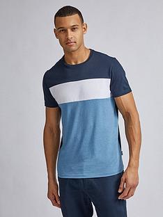 burton-menswear-london-colourblock-cut-and-sew-t-shirt-blue