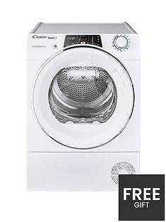 candy-rapido-roh9a2tce-9kg-load-heat-pump-tumble-dryer-white-chrome