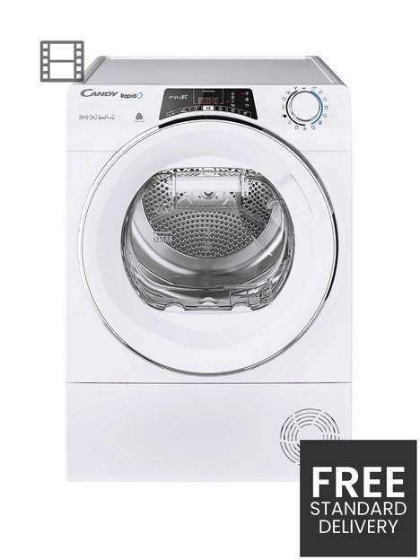candy-rapido-roh10a2tce-10kg-load-heat-pump-tumble-dryer-whitechrome