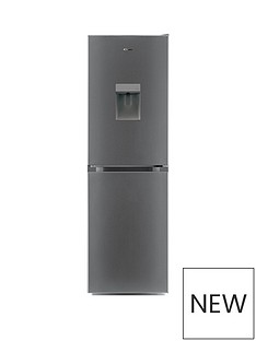 candy-cmcl-5172swdk-55cm-wide-fridge-freezer-with-water-dispenser-silver