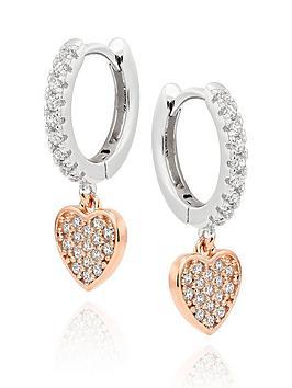 beaverbrooks-silver-rose-gold-plated-cubic-zirconia-heart-hoop-earrings