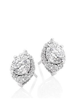 beaverbrooks-9ct-white-gold-cubic-zirconia-stud-earrings