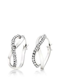 beaverbrooks-9ct-white-gold-crytsal-hoop-earrings