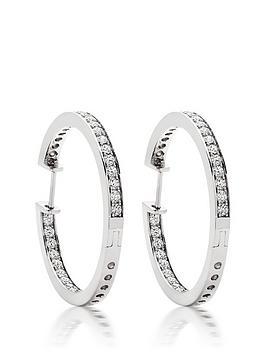 beaverbrooks-silver-cubic-zirconia-round-hoop-earrings