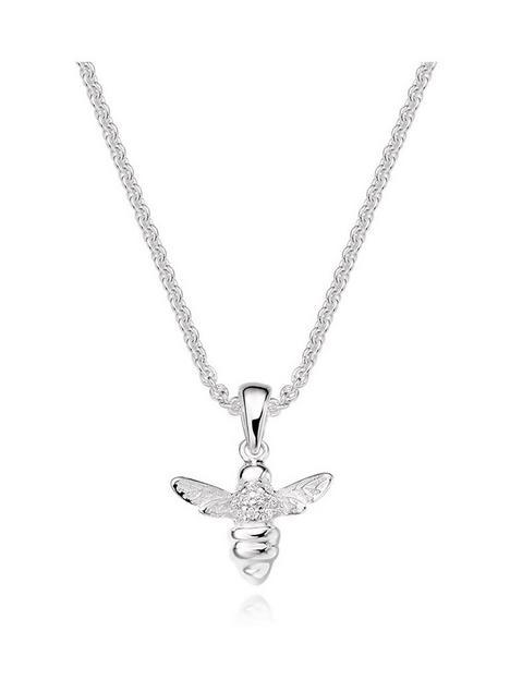 beaverbrooks-mini-b-childrens-silver-cubic-zirconia-bee-pendant