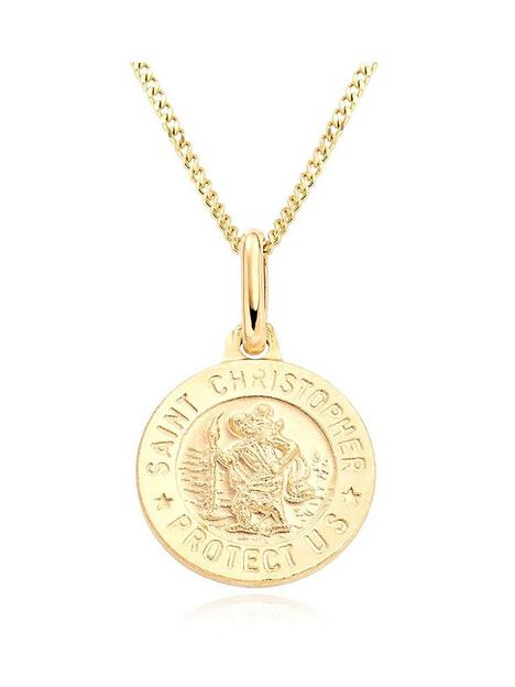 beaverbrooks-mini-b-childrens-9ct-gold-st-christopher-pendant