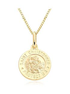 beaverbrooks-mini-b-childrens-9ct-gold-st-christopher-pendant