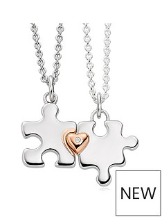 beaverbrooks-mini-b-childrens-silver-and-rose-gold-plated-diamond-jigsaw-mother-daughter-pendant-set