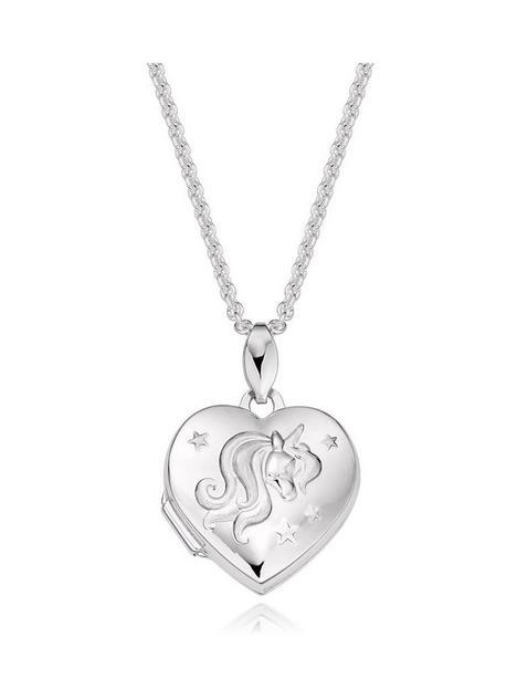 beaverbrooks-mini-b-childrens-silver-unicorn-heart-locket