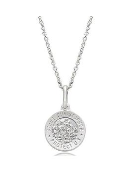 beaverbrooks-mini-b-childrens-silver-st-christopher-pendant