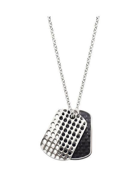 beaverbrooks-stainless-steel-carbon-fibre-dog-tag-pendant