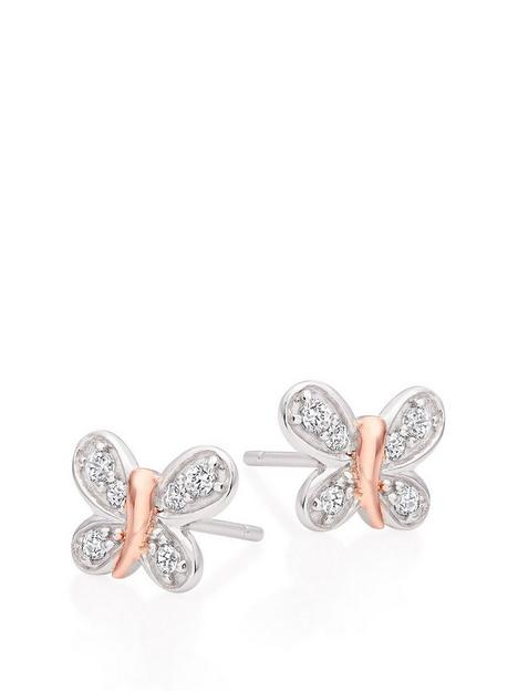 beaverbrooks-mini-b-childrens-silver-and-rose-gold-plated-cubic-zirconia-butterfly-earrings