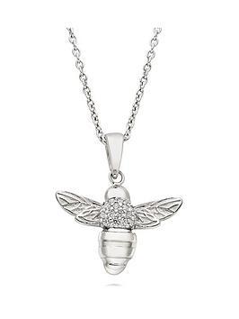 beaverbrooks-silver-cubic-zirconia-bee-pendant