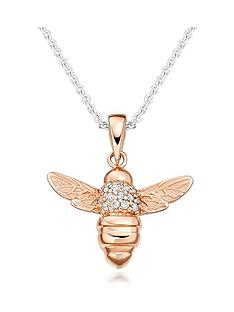 beaverbrooks-rose-gold-plated-silver-cubic-zirconia-bee-pendant