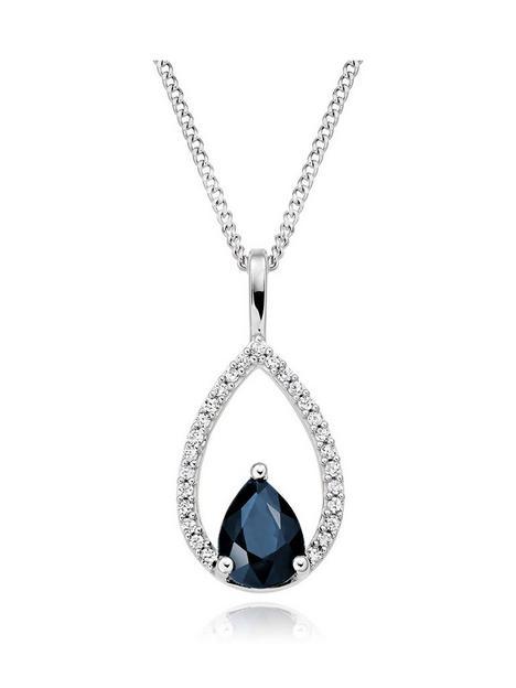beaverbrooks-9ct-white-gold-diamond-sapphire-pendant