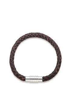 beaverbrooks-brown-leather-mens-bracelet