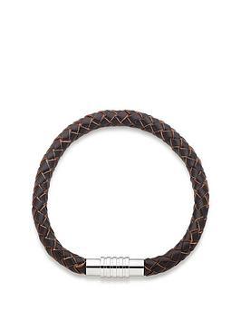 beaverbrooks-leather-mens-bracelet-brown