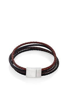 beaverbrooks-multi-strand-leather-mens-bracelet