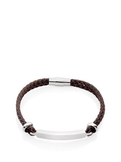 beaverbrooks-leather-bar-mens-bracelet-brown