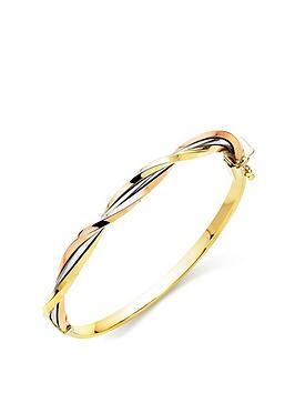beaverbrooks-9ct-tri-colour-gold-twist-bangle