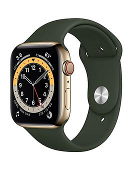 apple-watch-series-6-gps-cellular-44mm-gold-stainless-steel-case-with-cyprus-green-sport-band